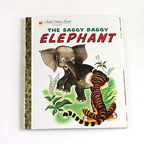 絵本 a Little Golden Book The Saggy Baggy Elephant